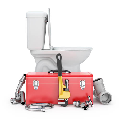 Toilet and Tool box